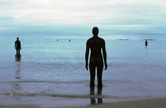 'Another place' by Anthony Gormley- fantastic. There are a hundred identical statues along the beach some out in the water .