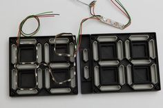 S7ripClock - Basic Edition : 11 Steps (with Pictures) - Instructables Feet Show, Two Dots, Cable Cover, Everything Is Connected, Power Wire, Small Bars, Led Strip, Arduino, Montage