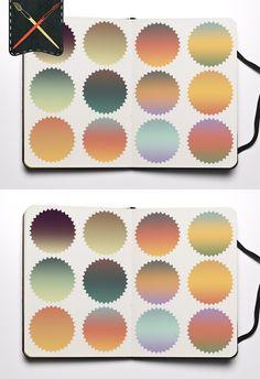 Retro Colors Gradients. Gradients. $3.00