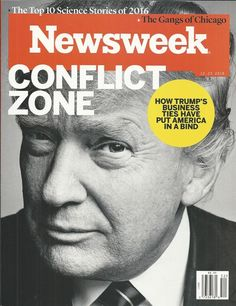 Newsweek magazine Donald Trump Top 10 science stories of the year Chicago gangs