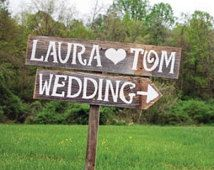 Rustic Wedding Signs Trueconnection Romantic Outdoor Weddings Hand Painted Reclaimed Wood. Rustic Weddings. Vintage Weddings Road Signs Barn