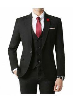 Mens Wool Slim Double Breasted Half Trench Coat (W2C) | Men's ...