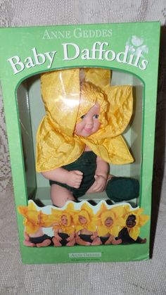 ANNE GEDDES BABY DAFFODILS DOLL 1999 NEW IN BOX #DollswithClothingAccessories