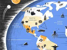 Tiny Showcase World Map by Owen Gatley