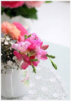 Pink Flowers   Flickr - Photo Sharing!