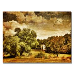 Lois Bryan 'Old Farm House' Canvas Art | Overstock.com Shopping - The Best Deals on Canvas