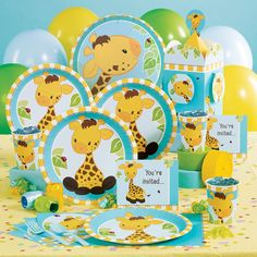 cute giraffe party supplies