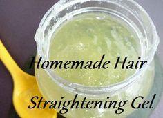 homemade hair straightening gel