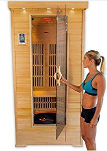Amazon.com : Home Personal Sauna Kit w/ DVD Player and Tv Jump 2 Person or 1 Person Exercise Fitness Infrared w/ Trampoline, Iphone / Smart Phone Doc, Am/fm Radio, Clock w/ Timer : Patio, Lawn & Garden