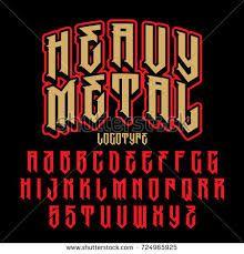Golden Metal Factory Inspired Vector font - Vecleezy