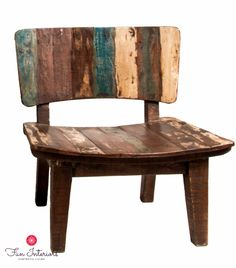 Comfortable recycled wood chair