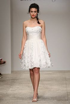Vestido cortos de novia