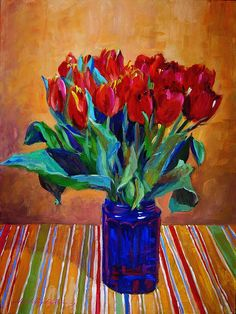 A colorful table top still life perfect for the kitchen wall