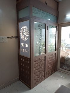 Living Room Partition Design, Room Partition Designs, 2bhk House Plan, Cardboard Organizer, Temple Design For Home, Mandir Design, Pooja Room Door Design, Wardrobe Design Bedroom, Puja Room