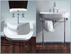 My fave sink, ever. Happy D, Organization, Organizing, Bathing, Console, Sink, Towel, Duravit, Bathrooms