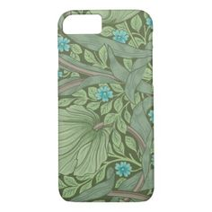 Wallpaper Pattern Sample with Forget-Me-Nots iPhone 8/7 Case - sample design diy personalize idea