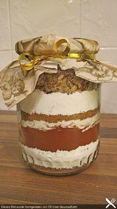 Brownie-Backmischung als Geschenk, ein beliebtes Rezept aus der Kategorie Grundrezepte. Bewertungen: 20. Durchschnitt: Ø 4,5.