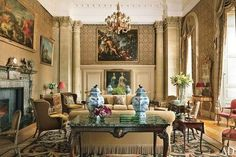 Easton Neston (originally by Nicholas Hawksmoor). Restored byPtolemy Dean Architects and Spencer-Churchill Designs.
