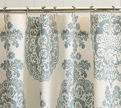 Lucianna Medallion Shower Curtain #potterybarn