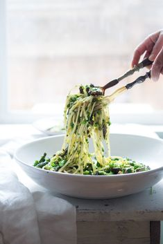 10 HEALTHY, VEGGIE-LOADED PASTA DISHES (with MORE veggies than pasta!) like this...Spring Pasta Salad with Asparagus, Mushrooms and a bright and zesty Lemon Parsley Dressing. #pastarecipes #springpasta #springrecipes #asparagus #vegan #pastasalad