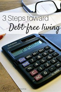 3 tips to start working toward living free from debt! It will take work but financial freedom is possible! We've made it and are thankful to be financially free!