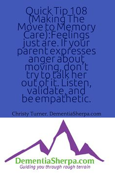 Validating feelings for alzheimers