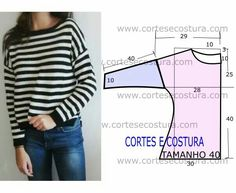 moldes de blusas cruzada na frente com manga de babado ile ilgili görsel sonucu Easy Sewing Patterns, Sewing Tutorials, Sewing Hacks, Diy Clothing, Clothing Patterns, Shirt Patterns, Sewing Blouses, Make Your Own Clothes, Sewing Techniques