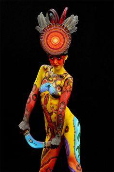 Phantasmagoric body art from this year's World Bodypainting Festival