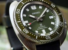 Hands-On With Seiko's New Prospex 'Captain Willard' Diver Interpretation Hands-On Rolex Watches, Watches For Men, Seiko Diver, Nato Strap, Telling Time, Clock, Hands, Omega, Watches