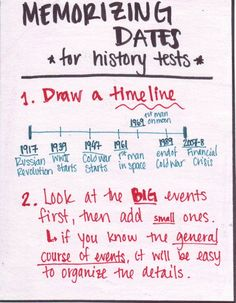 History Tests Study tip (there's a second page)