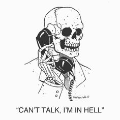 14 Darkly Funny Illustrations That Show You And The Grim Reaper Could Be BFFs is part of Skeleton art - If you love to laugh at your own miserable life and broken dreams then Bob Plissken designs were made just for you Art Sketches, Art Drawings, Skeleton Art, Skeleton On Phone, Skeleton Drawings, Arte Horror, Grim Reaper, Skull Art, Dark Art
