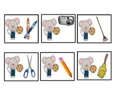 If You Give a Mouse a Cookie: Speech Therapy Activities for Preschool (language)