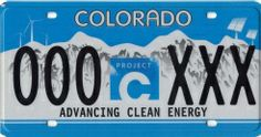 Colorado Advancing Clean Energy License Plate