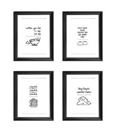 8 x 10 rap lyrics kitchen set by BrittanyMadeThis on Etsy, $35.00