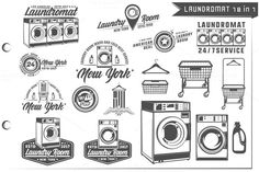 18 in 1 Set of Laundromat @creativework247