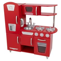 Kidkraft,toy kitchen,kids kitchen,kitchen for girls,childrens kitchen,Games,toys,Pretend Play,toy Kitchens,play Food,red play kitchen,red kitchens