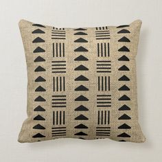 Black Throws, Black Throw Pillows, Embroidered Bedding, Cotton Bedding, Block Painting, Boho Ideas, African Mud Cloth, Free Sewing, Custom Pillows