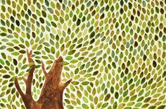 Tree detail (watercolor illustration)