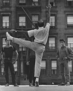 On the set of West Side Story, 1961. S)