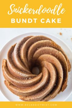 If you like simple, easy, and tasty bundt cakes, then this snickerdoodle bundt cake is for you. Moist, with a soft crumb and lightly spiced. #aclassictwist #snickerdoodlebundtcake #cinnamonswirlcake Fall Recipes, Baby Food Recipes, Just Desserts, Delicious Desserts, Yummy Treats, Sweet Treats, One Layer Cakes, Cupcake Cakes, Bundt Cakes