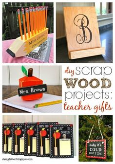 """That's My Letter: """"S"""" is Scrap Wood Projects: Teacher Gifts #teachergifts"""