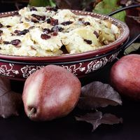 Easy Pear and Cranberry Crisp