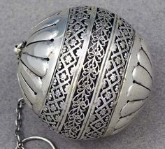 Large Gorham sterling silver tea ball