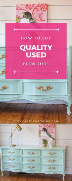 How to Buy Quality Used Furniture | Antique items, Wood furniture ...