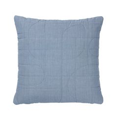 Blomus Stripe 16 x 16 Quilted Pillow Cover, Flint Stone - 65638
