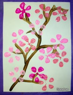 Trendy Spring Art Projects For Kids Preschool Cherry Blossoms Ideas Spring Art Projects, Spring Crafts For Kids, Projects For Kids, Art For Kids, Diy Projects, Kindergarten Crafts, Daycare Crafts, Preschool Crafts, Kid Crafts