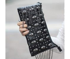 Punk - Chic Skull Clutch.