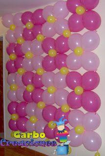 Garbo Creaciones: Decoracion con globos