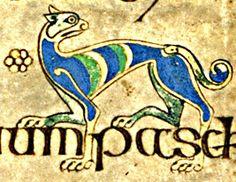 Book/Manuscript: Book of Kells  VII Century, Ireland / Scotland  Page (Folio): 111r    dog