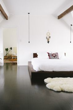 lighting + bed...